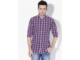 Hipster Cotton Multi Check Slim Fit Button Down Shirt