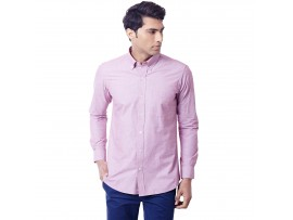 Lavender Filafil Semi Formal Slim Fit Button Down Shirt