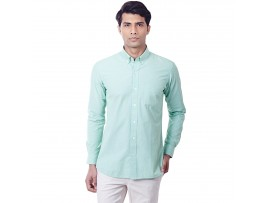Mint Green Filafil Semi Formal Slim Fit Button Down Shirt