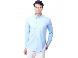 Light Blue Filafil Semi Formal Slim Fit Button Down Shirt